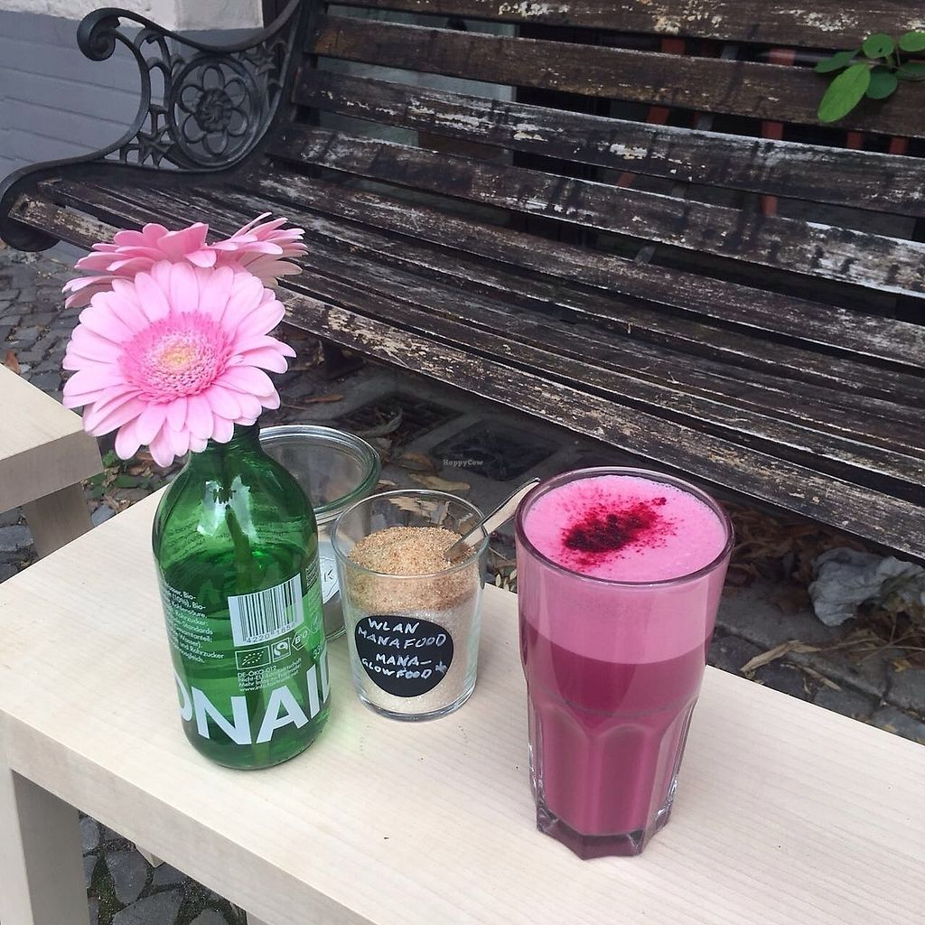 """Photo of Manafood  by <a href=""""/members/profile/SergejLubic"""">SergejLubic</a> <br/>The beetroot latte. You won't guess how delicious it is! Beetroot, ginger and Oatmilk, sooo great! <br/> October 8, 2017  - <a href='/contact/abuse/image/102480/313217'>Report</a>"""