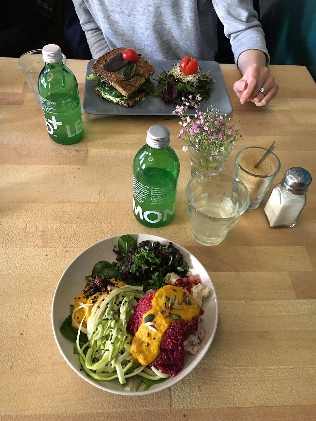 """Photo of Manafood  by <a href=""""/members/profile/JouniK%C3%A4rpp%C3%A4"""">JouniKärppä</a> <br/>Zoodles and black lentils. Ruby bowl <br/> February 25, 2018  - <a href='/contact/abuse/image/102480/363726'>Report</a>"""
