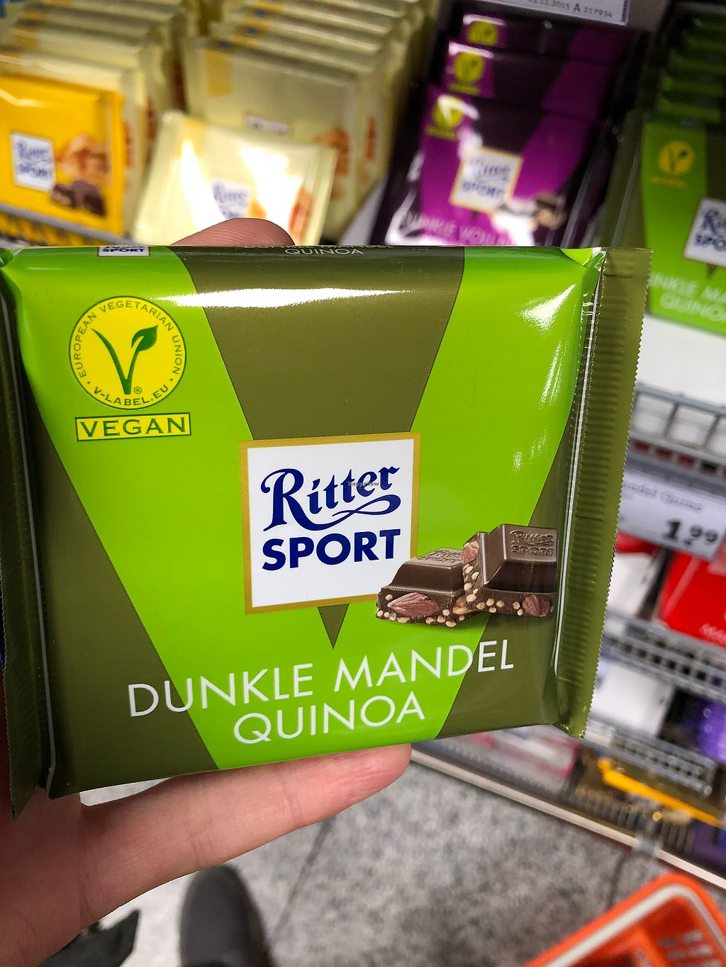 """Photo of tegut - Airport  by <a href=""""/members/profile/Knauji82"""">Knauji82</a> <br/>New vegan ritter sport! <br/> November 19, 2017  - <a href='/contact/abuse/image/102484/327028'>Report</a>"""
