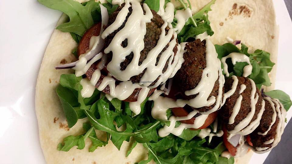 """Photo of Kafenion  by <a href=""""/members/profile/VeronicaA"""">VeronicaA</a> <br/>Falafel wrap <br/> October 7, 2017  - <a href='/contact/abuse/image/102490/312908'>Report</a>"""