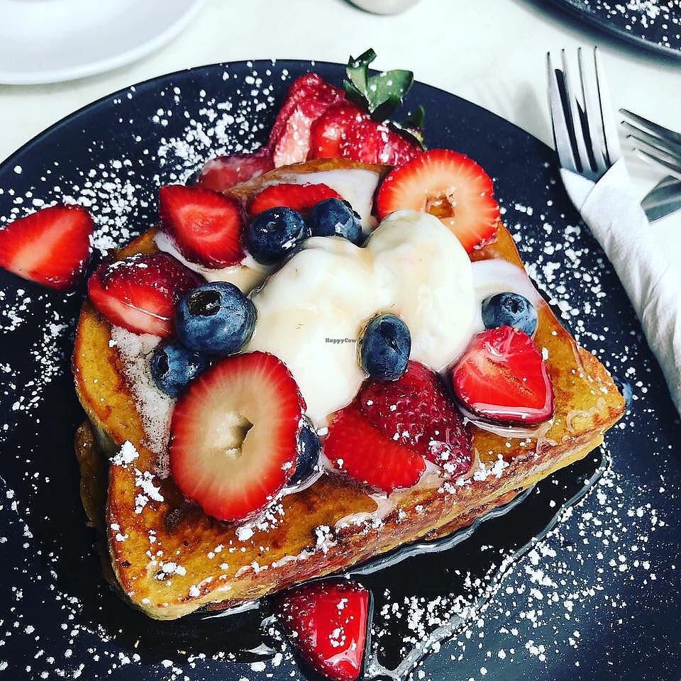 """Photo of Kafenion  by <a href=""""/members/profile/VeronicaA"""">VeronicaA</a> <br/>Vegan French toast <br/> October 8, 2017  - <a href='/contact/abuse/image/102490/312998'>Report</a>"""