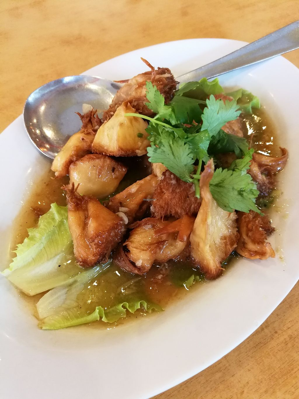 "Photo of Ring Zhi Vegetarian Restaurant  by <a href=""/members/profile/RawChefYin"">RawChefYin</a> <br/>Fried Bearhead Mushroom with Ginger (small) RM15