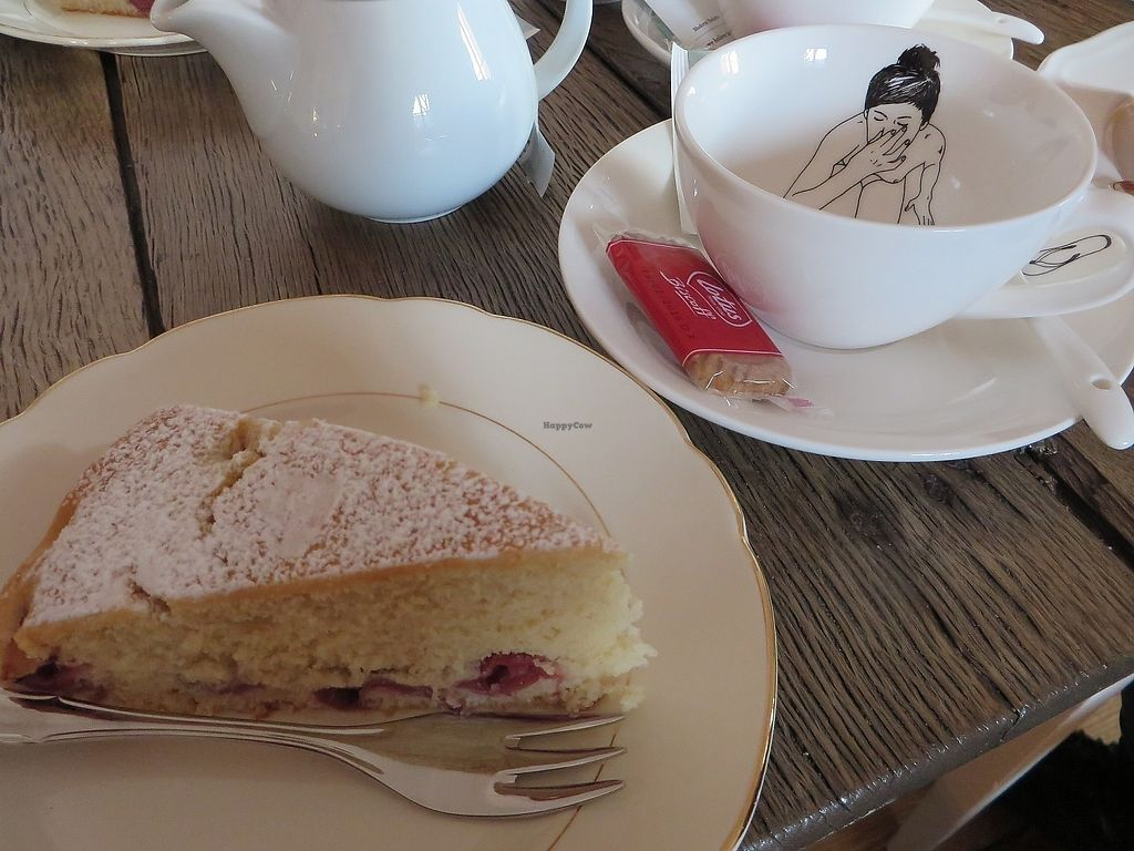 """Photo of Amelie Cafe & Dekoration  by <a href=""""/members/profile/VegiAnna"""">VegiAnna</a> <br/>Homemade cherry cake (vegan) <br/> October 15, 2017  - <a href='/contact/abuse/image/102510/315606'>Report</a>"""