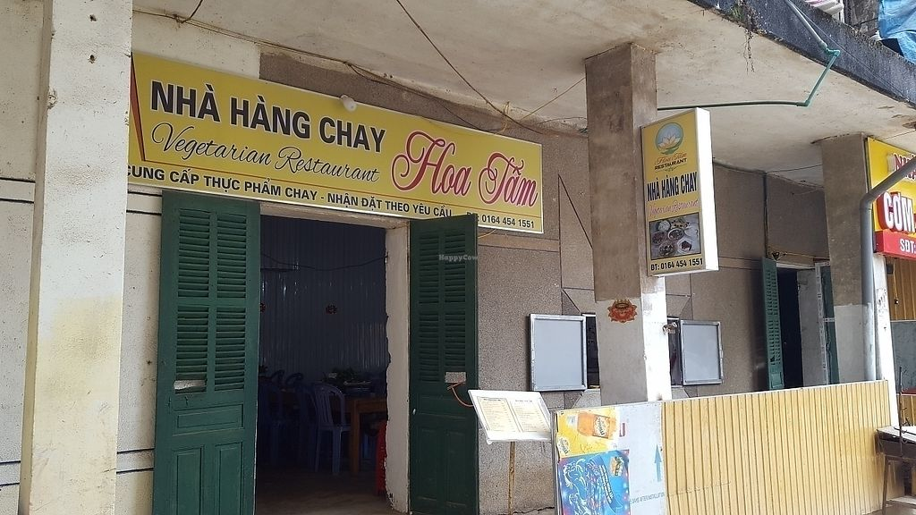"""Photo of Nha Hang Chay Hoa Tam  by <a href=""""/members/profile/Christoveg"""">Christoveg</a> <br/>it's down the stairs & around the corner from the main street  <br/> November 14, 2017  - <a href='/contact/abuse/image/102518/325596'>Report</a>"""