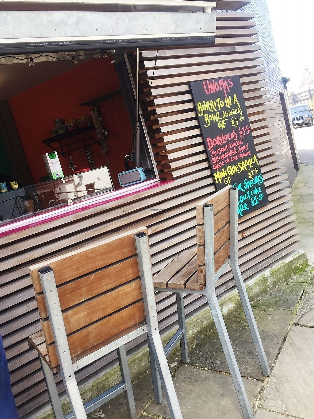 """Photo of Uno Mas  by <a href=""""/members/profile/TARAMCDONALD"""">TARAMCDONALD</a> <br/>Restaurant stand, limited seating at the bar but great street food <br/> April 14, 2018  - <a href='/contact/abuse/image/102539/385732'>Report</a>"""
