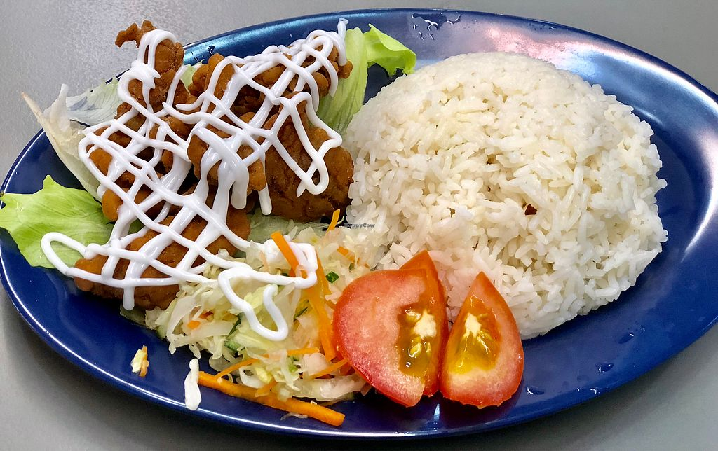 """Photo of Mummy Yummy Stall  by <a href=""""/members/profile/CherylQuincy"""">CherylQuincy</a> <br/>Fried Oyster Mushrooms in Mayonnaise Dressing and Rice <br/> January 17, 2018  - <a href='/contact/abuse/image/102541/347379'>Report</a>"""