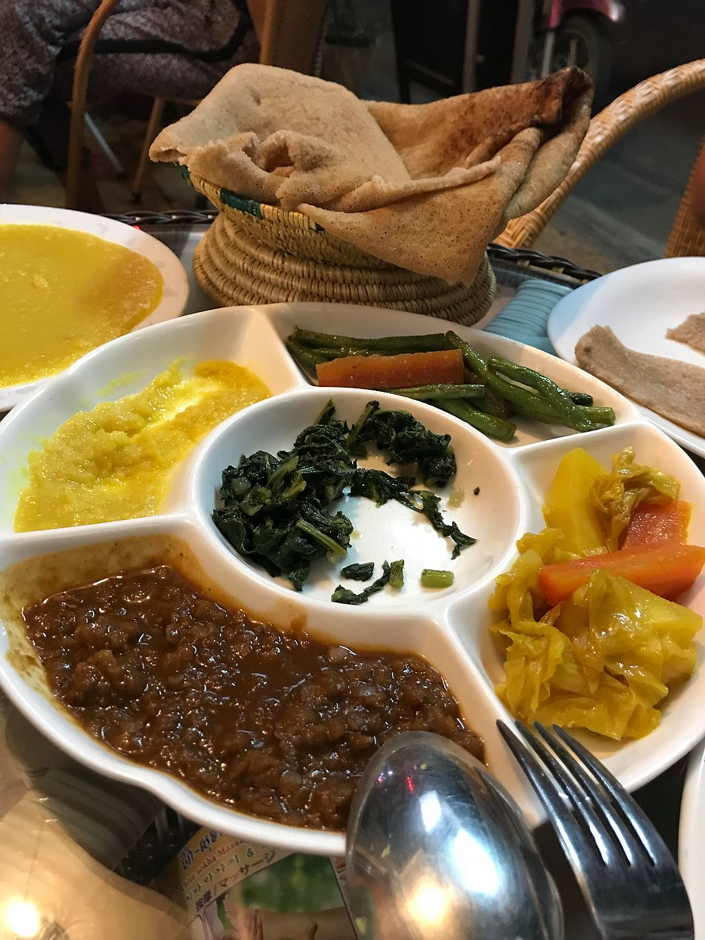 """Photo of Sara Ethiopian Restaurant  by <a href=""""/members/profile/vichinol"""">vichinol</a> <br/>Vegan Combo <br/> December 30, 2017  - <a href='/contact/abuse/image/102572/340840'>Report</a>"""