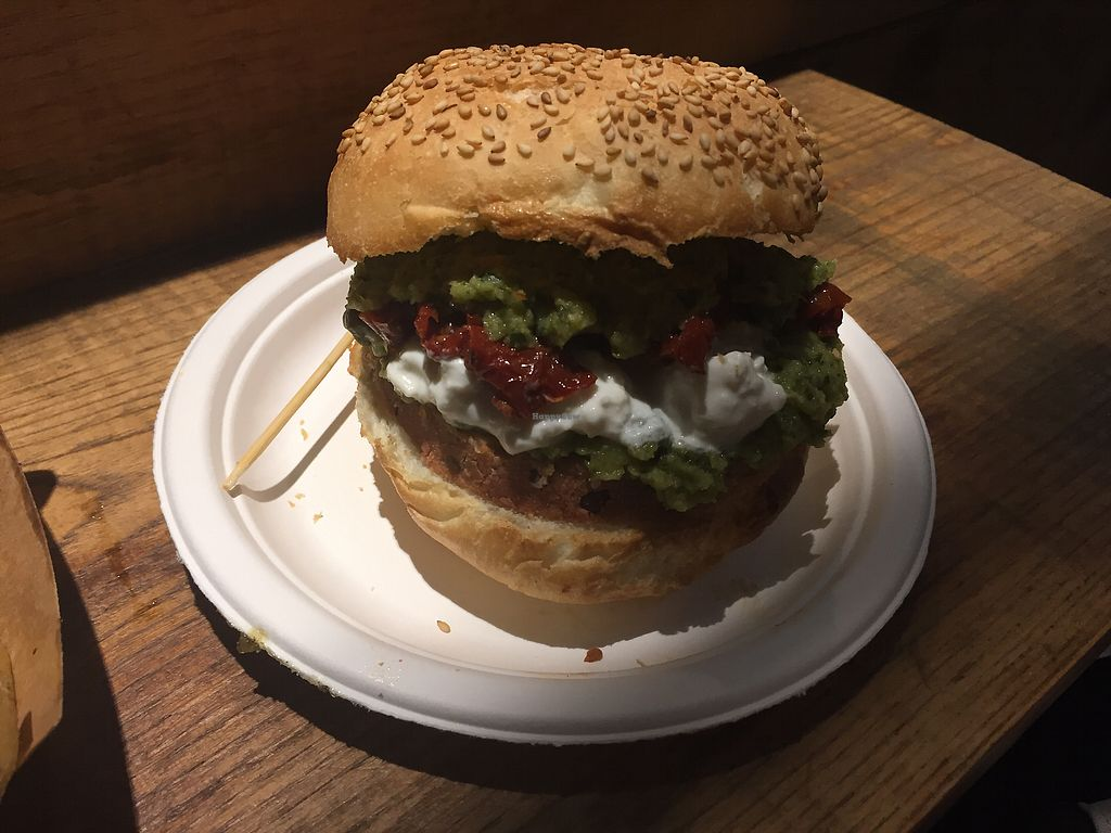 """Photo of Mercato Centrale Roma  by <a href=""""/members/profile/amandamoon23"""">amandamoon23</a> <br/>Vegan Burger <br/> October 9, 2017  - <a href='/contact/abuse/image/102577/313757'>Report</a>"""