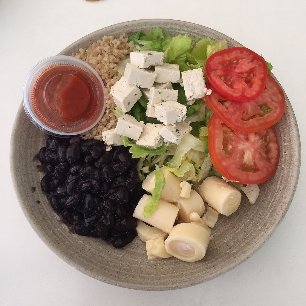 "Photo of Garden Fresh Cafe  by <a href=""/members/profile/Eefie"">Eefie</a> <br/>Mmmm romain salad with quinoa, blackbeans, tofu, palmhearts and tomato <br/> October 9, 2017  - <a href='/contact/abuse/image/102592/313780'>Report</a>"