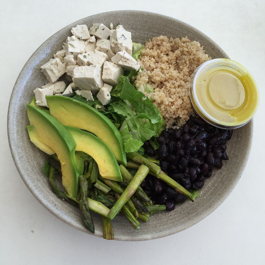 "Photo of Garden Fresh Cafe  by <a href=""/members/profile/Eefie"">Eefie</a> <br/>Romain sla, black beans, avocado, asparagus, tofu & quinoa <br/> October 14, 2017  - <a href='/contact/abuse/image/102592/315150'>Report</a>"