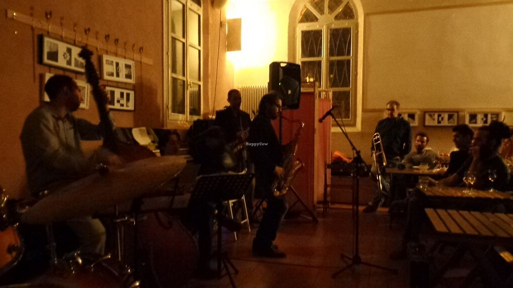 """Photo of Ghirba Biosteria della Gabella  by <a href=""""/members/profile/theexternvoid"""">theexternvoid</a> <br/>An open jazz jam session <br/> October 15, 2017  - <a href='/contact/abuse/image/102593/315688'>Report</a>"""