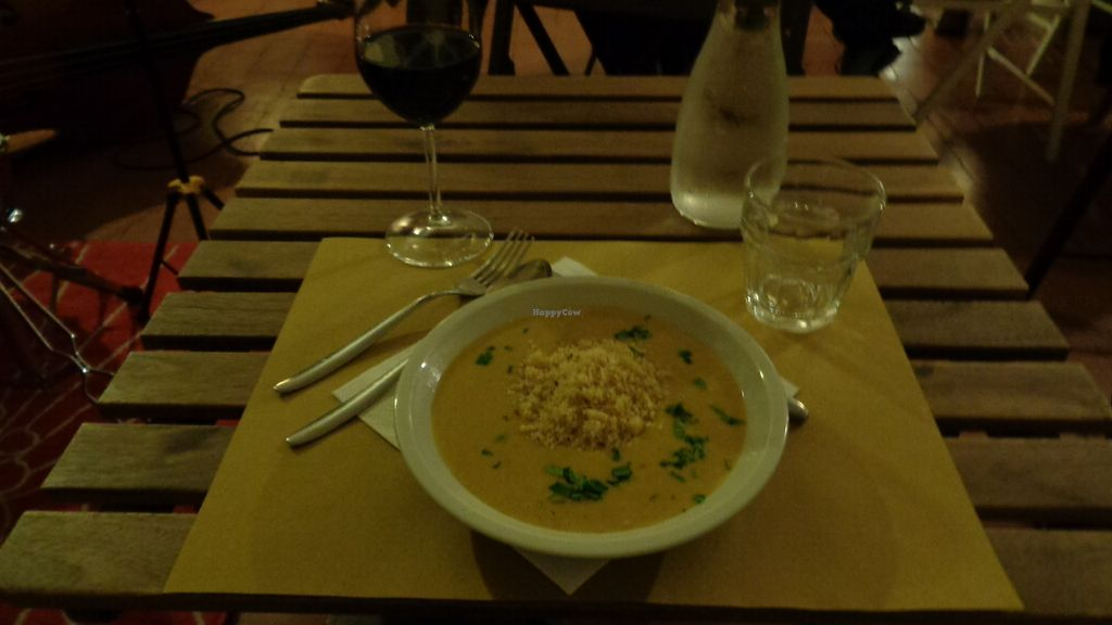 """Photo of Ghirba Biosteria della Gabella  by <a href=""""/members/profile/theexternvoid"""">theexternvoid</a> <br/>A flavorful Indian lentil dal with Italian wine <br/> October 15, 2017  - <a href='/contact/abuse/image/102593/315691'>Report</a>"""