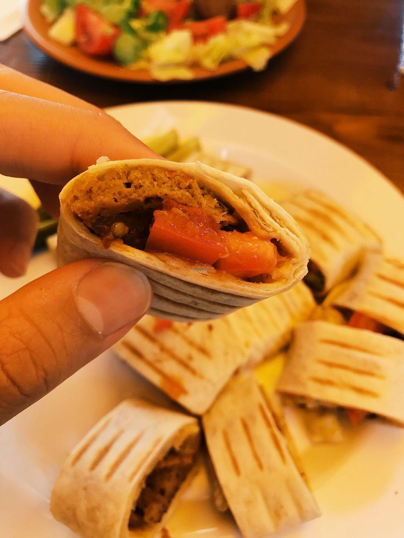 "Photo of Cafe Beirut  by <a href=""/members/profile/veganoteacher"">veganoteacher</a> <br/>Vegan Doner/Kebab (Seitan) <br/> October 15, 2017  - <a href='/contact/abuse/image/102608/315445'>Report</a>"