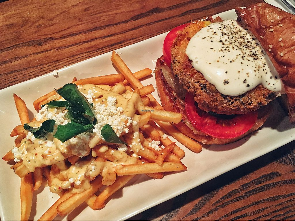 "Photo of CLOSED: Crying Thaiger  by <a href=""/members/profile/Fnykis"">Fnykis</a> <br/>Magical Mushroom burger with feta larb fries <br/> October 10, 2017  - <a href='/contact/abuse/image/102622/313816'>Report</a>"