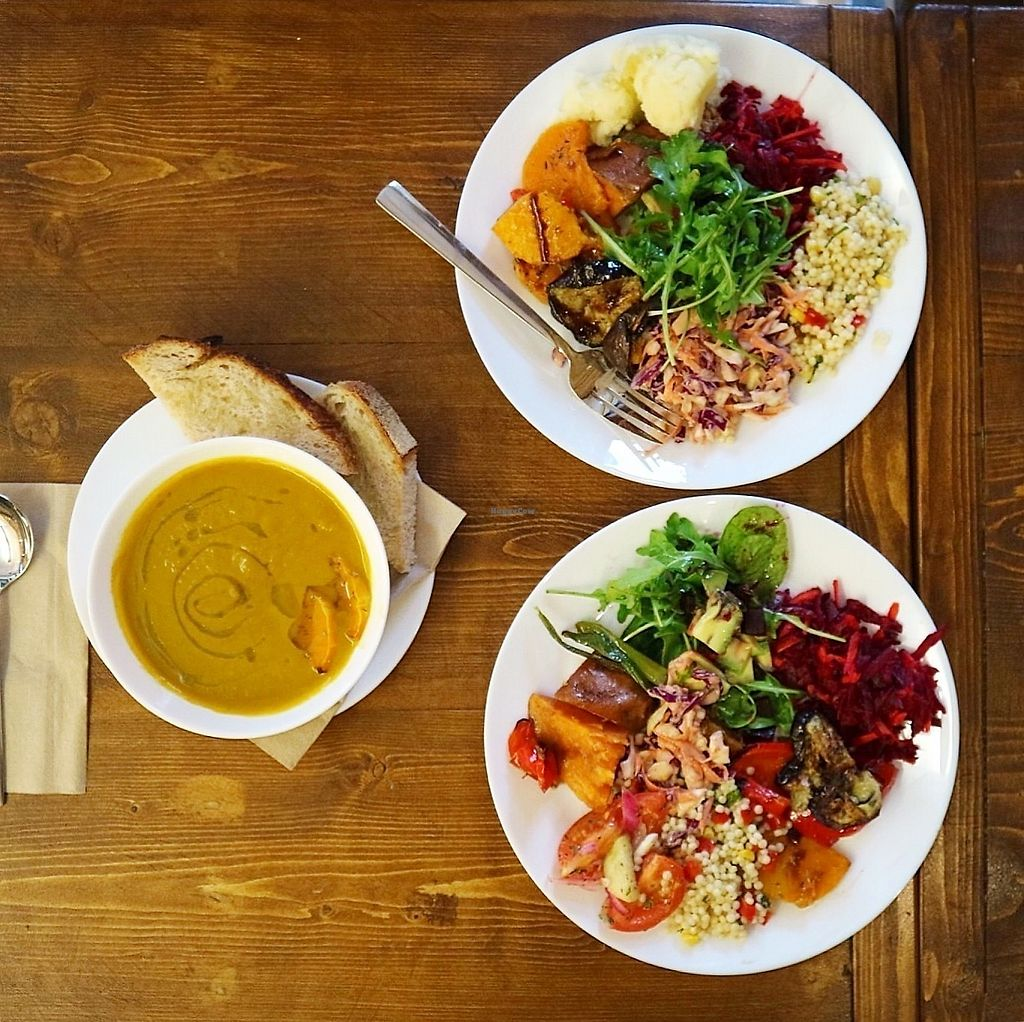 """Photo of Simply Vegan  by <a href=""""/members/profile/charclothier"""">charclothier</a> <br/>help yourself buffet and amazing soup!  <br/> November 7, 2017  - <a href='/contact/abuse/image/102624/323048'>Report</a>"""