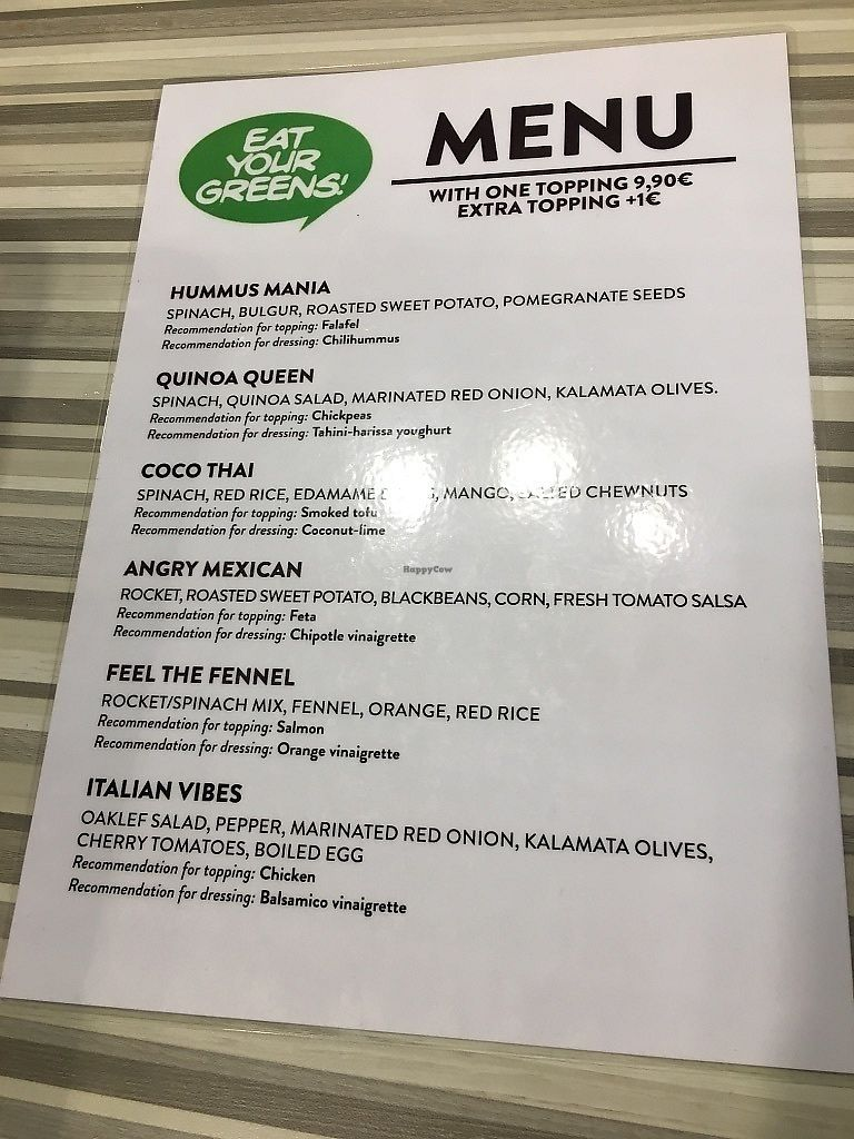 """Photo of Eat Your Greens  by <a href=""""/members/profile/SP"""">SP</a> <br/>menu (Sept 2017) <br/> October 10, 2017  - <a href='/contact/abuse/image/102635/313827'>Report</a>"""