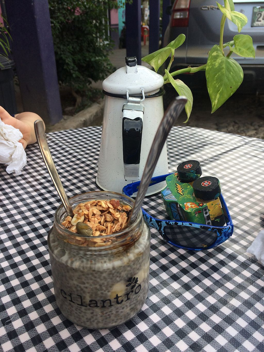 """Photo of Cilantro  by <a href=""""/members/profile/Katie%20Le"""">Katie Le</a> <br/>Chia pudding, outdoor table <br/> December 26, 2017  - <a href='/contact/abuse/image/102658/339296'>Report</a>"""