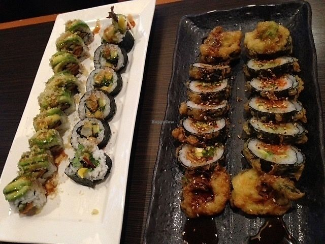 """Photo of Tsunami  by <a href=""""/members/profile/SushiSauce"""">SushiSauce</a> <br/>Four vegan rolls <br/> October 10, 2017  - <a href='/contact/abuse/image/102663/313797'>Report</a>"""