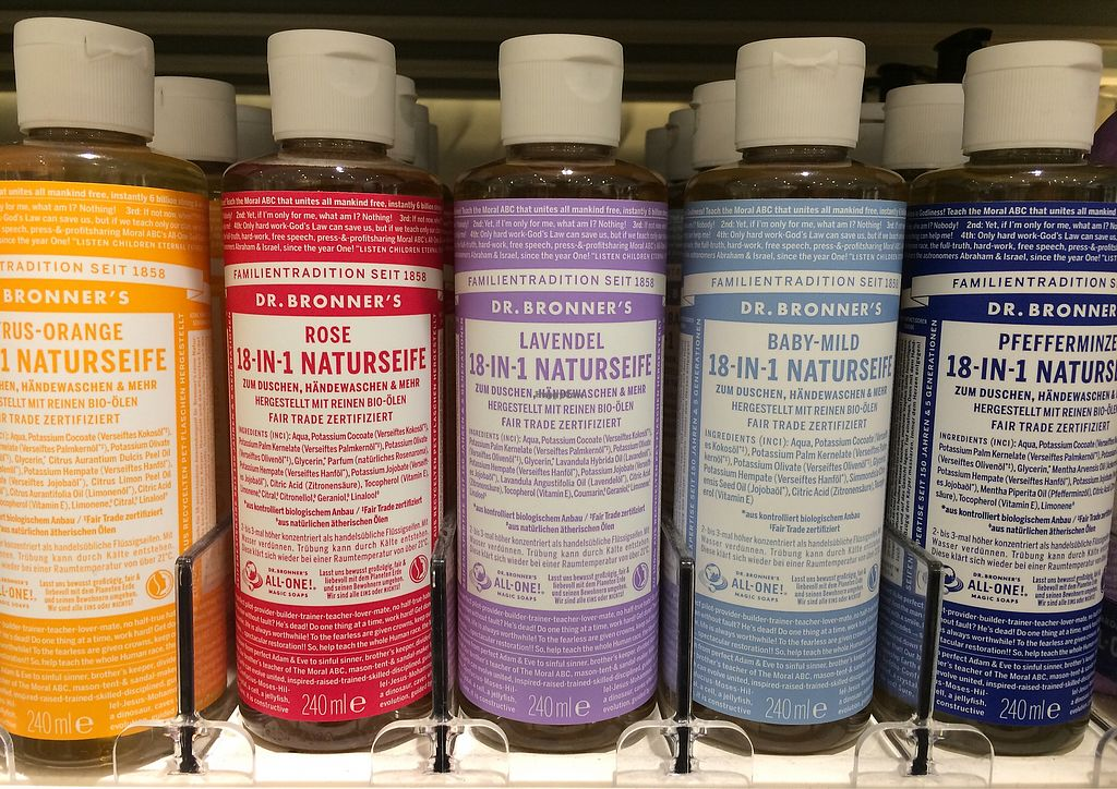 """Photo of Dm-Drogerie Markt - Stuttgarter Straße  by <a href=""""/members/profile/Carissima"""">Carissima</a> <br/>Dr. Bronner's products <br/> October 11, 2017  - <a href='/contact/abuse/image/102693/314200'>Report</a>"""
