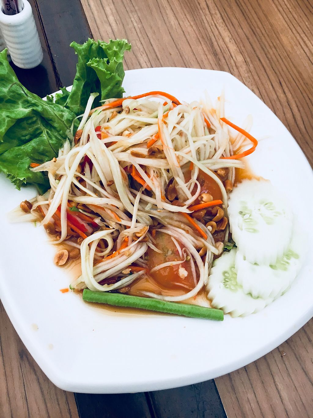 "Photo of Silom Village Restaurant - Airport  by <a href=""/members/profile/Pips"">Pips</a> <br/>Papaya salad <br/> March 11, 2018  - <a href='/contact/abuse/image/102736/369182'>Report</a>"