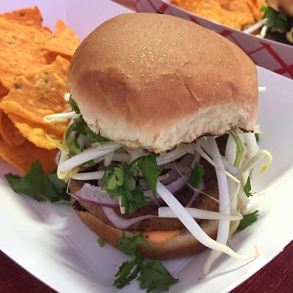 """Photo of Go Go Vegan Go - Food Truck  by <a href=""""/members/profile/JulieS"""">JulieS</a> <br/>The Thai Fighter Burger <br/> November 26, 2017  - <a href='/contact/abuse/image/102757/329492'>Report</a>"""