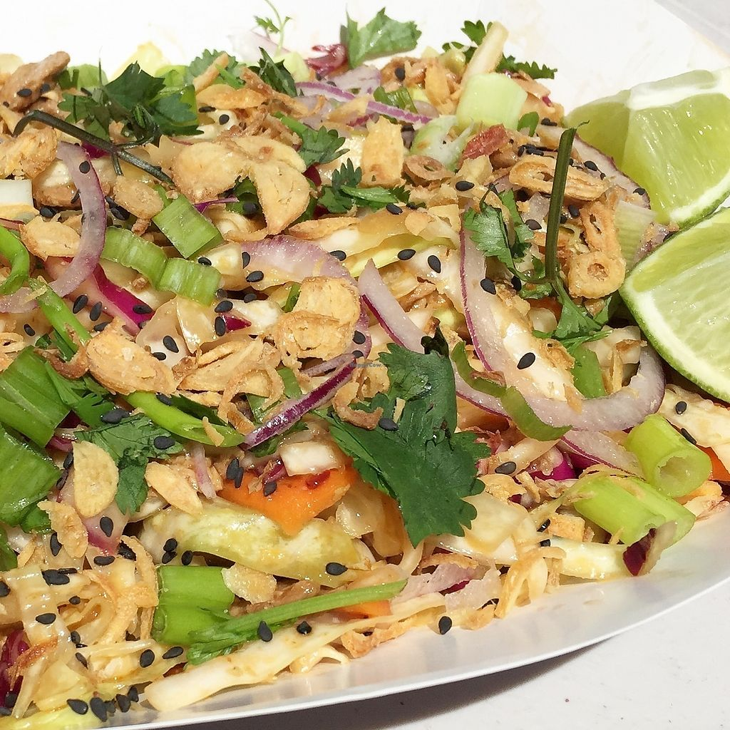 """Photo of Go Go Vegan Go - Food Truck  by <a href=""""/members/profile/GoGoVeganGo"""">GoGoVeganGo</a> <br/>Spicy Thai Salad  <br/> December 5, 2017  - <a href='/contact/abuse/image/102757/332392'>Report</a>"""