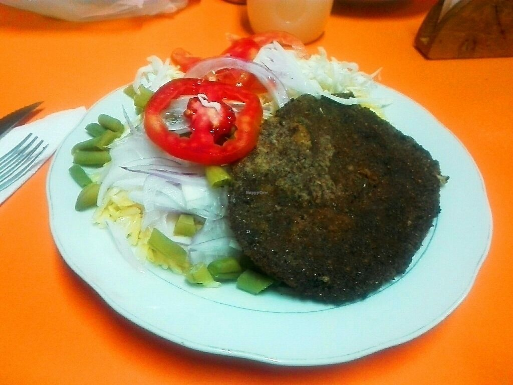 """Photo of Agape Restaurante Vegetariano  by <a href=""""/members/profile/Milenkiss"""">Milenkiss</a> <br/>Milanesa vegana <br/> October 13, 2017  - <a href='/contact/abuse/image/102777/314694'>Report</a>"""