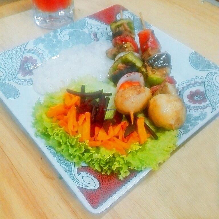 """Photo of Agape Restaurante Vegetariano  by <a href=""""/members/profile/Milenkiss"""">Milenkiss</a> <br/>vegetable skewers <br/> October 16, 2017  - <a href='/contact/abuse/image/102777/315902'>Report</a>"""
