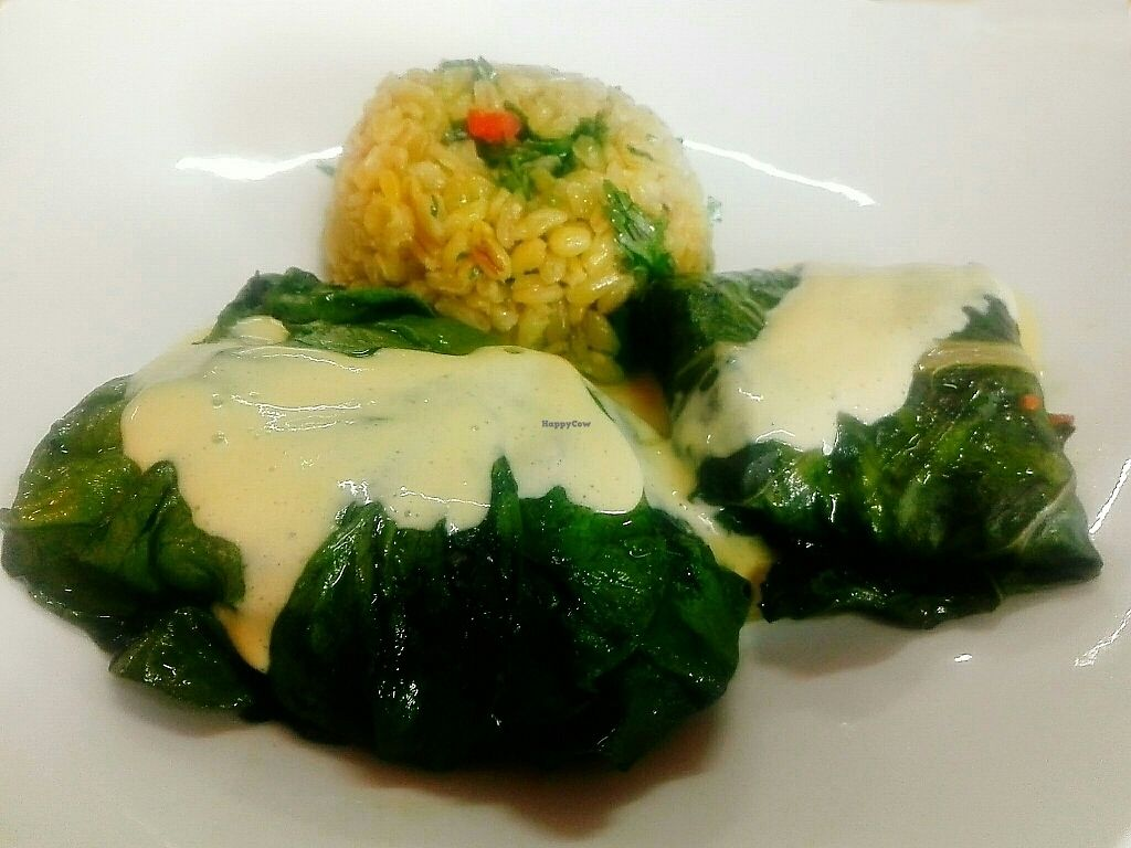 """Photo of Agape Restaurante Vegetariano  by <a href=""""/members/profile/Milenkiss"""">Milenkiss</a> <br/>Chard rolls <br/> October 30, 2017  - <a href='/contact/abuse/image/102777/320159'>Report</a>"""