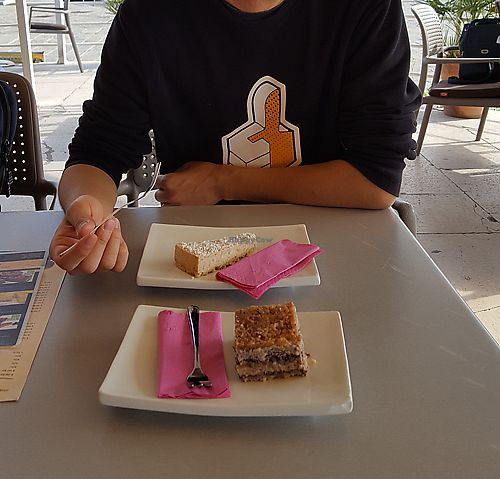 """Photo of Caffe Teater  by <a href=""""/members/profile/Seiashun"""">Seiashun</a> <br/>Coconut cake and """"gibanica"""" <br/> October 14, 2017  - <a href='/contact/abuse/image/102793/315081'>Report</a>"""