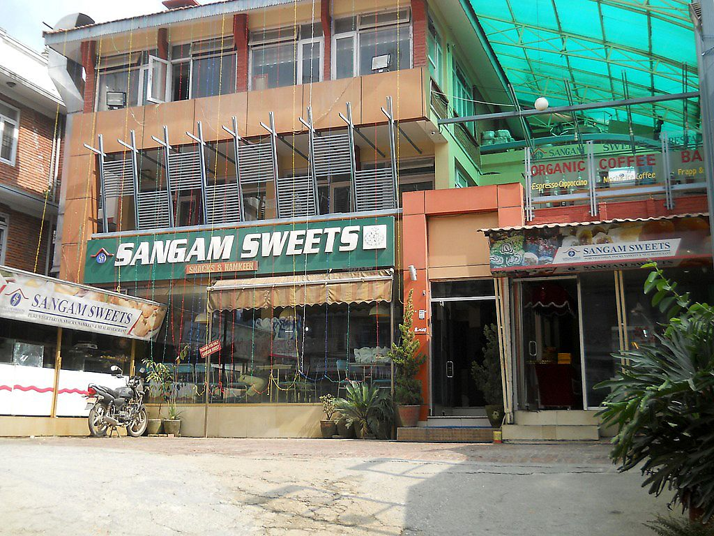 """Photo of Sangam Sweets  by <a href=""""/members/profile/Masala-Dosa"""">Masala-Dosa</a> <br/>outside <br/> October 15, 2017  - <a href='/contact/abuse/image/102799/315425'>Report</a>"""