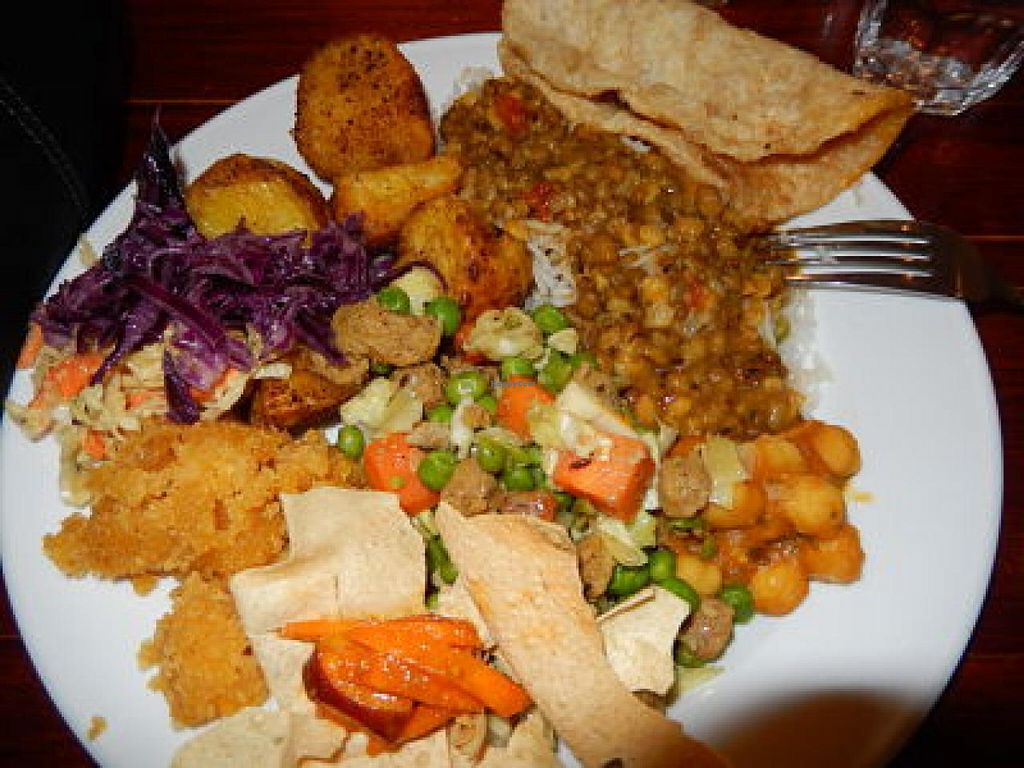 "Photo of Higher Taste Restaurant  by <a href=""/members/profile/CLRtraveller"">CLRtraveller</a> <br/>large buffet plate <br/> December 25, 2014  - <a href='/contact/abuse/image/10279/88681'>Report</a>"