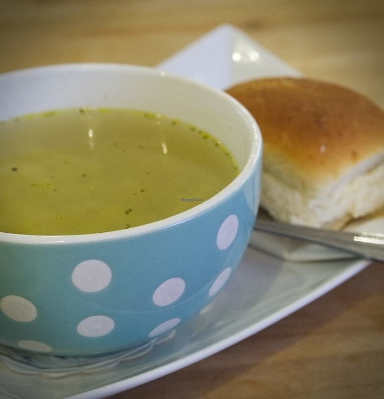 """Photo of Roots  by <a href=""""/members/profile/EmmaFaeEdinburgh"""">EmmaFaeEdinburgh</a> <br/>Leek and Potato soup at Roots <br/> February 5, 2018  - <a href='/contact/abuse/image/102819/355205'>Report</a>"""