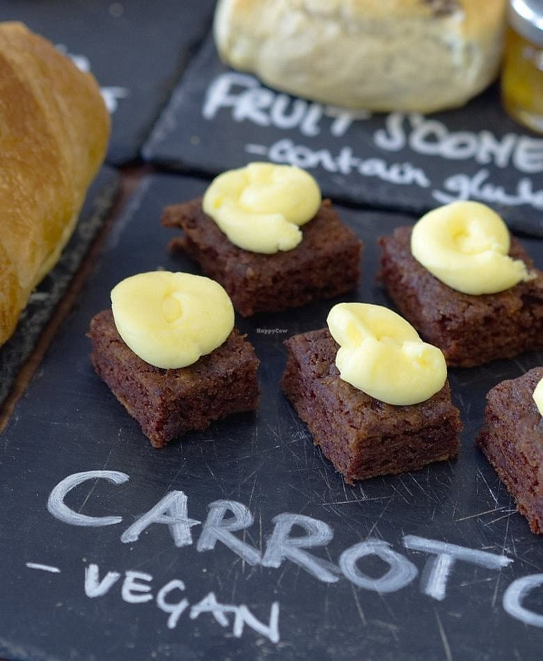 """Photo of Roots  by <a href=""""/members/profile/EmmaFaeEdinburgh"""">EmmaFaeEdinburgh</a> <br/>Vegan carrot cake at Roots <br/> February 5, 2018  - <a href='/contact/abuse/image/102819/355207'>Report</a>"""