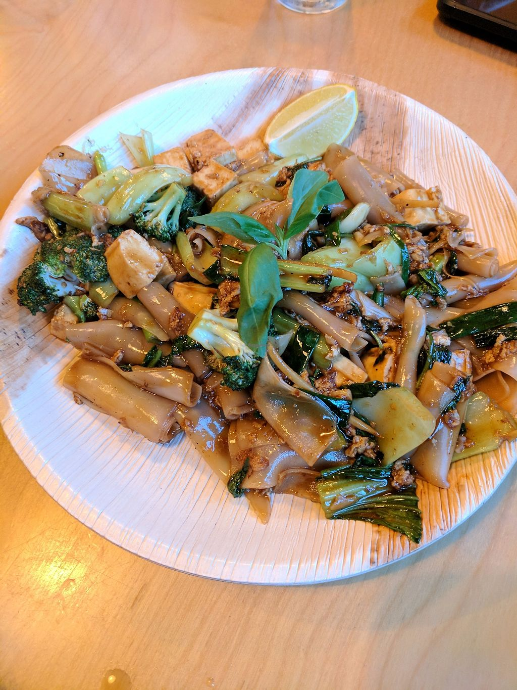 """Photo of Chang Ba Thai Restaurant  by <a href=""""/members/profile/eee135"""">eee135</a> <br/>Pad siu (ordered by vegetarian friend with egg but can be ordered without) <br/> October 14, 2017  - <a href='/contact/abuse/image/102849/314998'>Report</a>"""