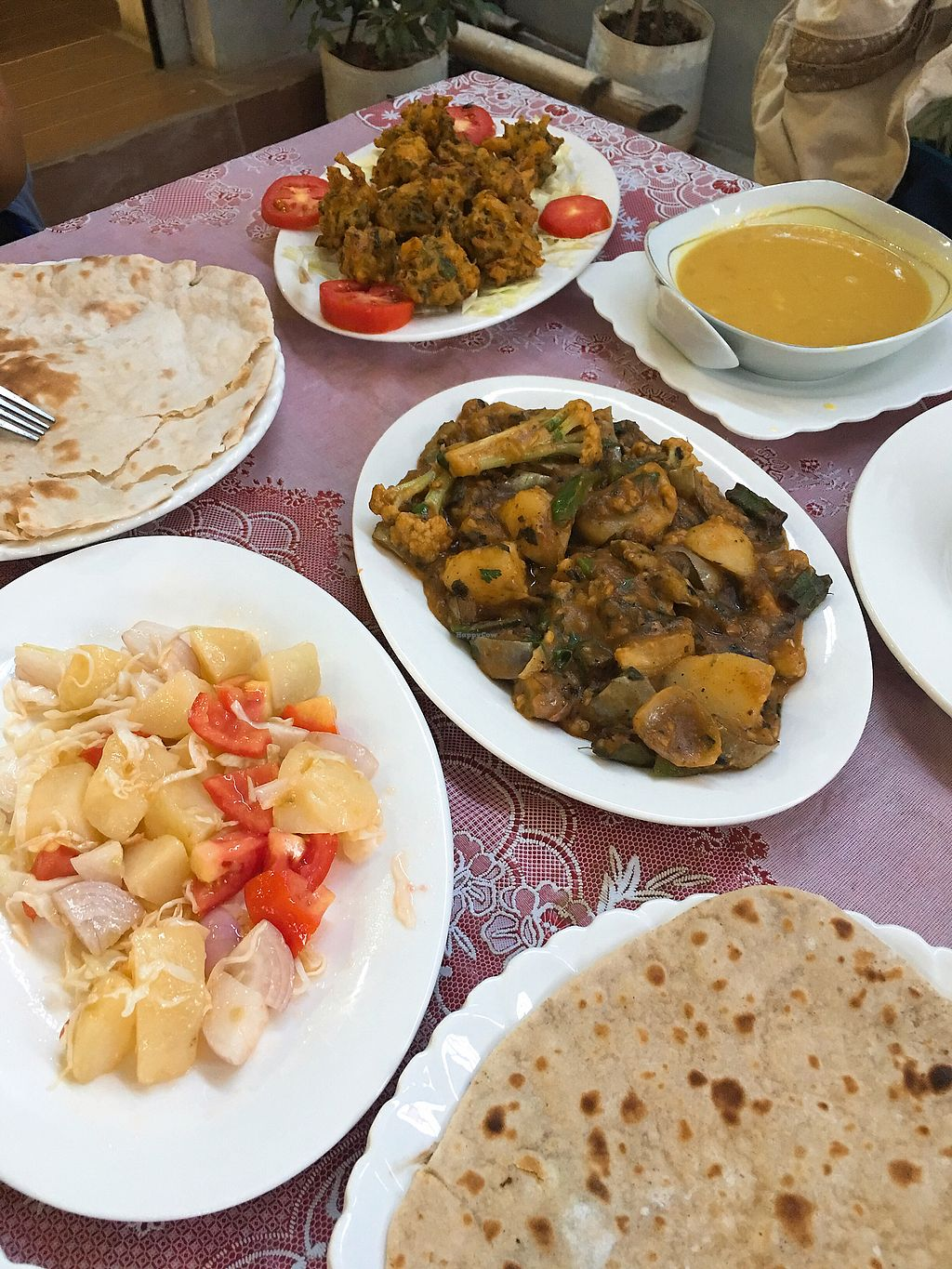 """Photo of Namaaste Kitchen  by <a href=""""/members/profile/AnthonyPolicano"""">AnthonyPolicano</a> <br/>Pakoras, dal soup, mixed veg curry, parota, potato tomato salad, chapati <br/> October 15, 2017  - <a href='/contact/abuse/image/102859/315524'>Report</a>"""
