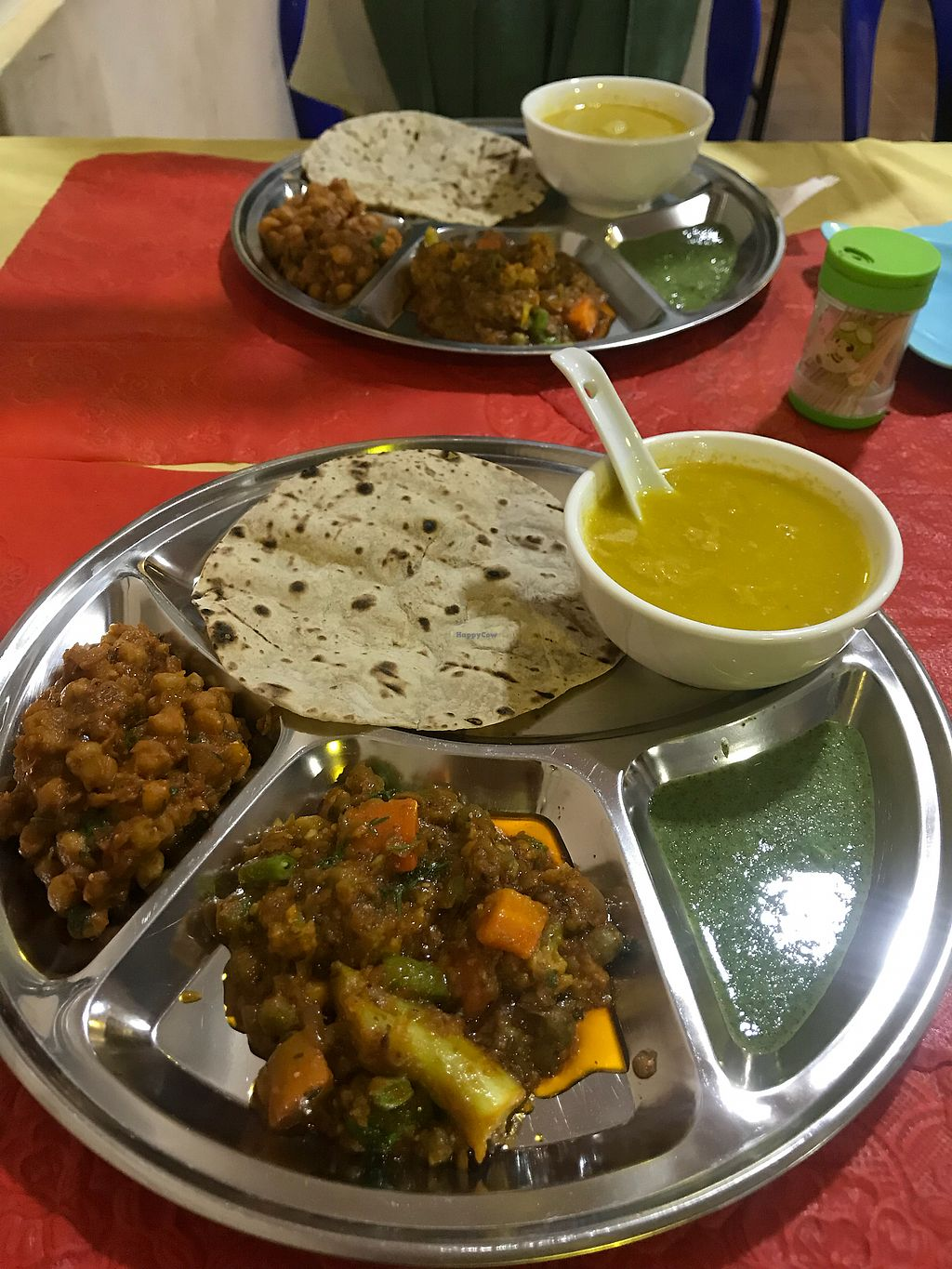 """Photo of Namaaste Kitchen  by <a href=""""/members/profile/MarieDy"""">MarieDy</a> <br/>Vegan Thali <br/> March 1, 2018  - <a href='/contact/abuse/image/102859/365383'>Report</a>"""