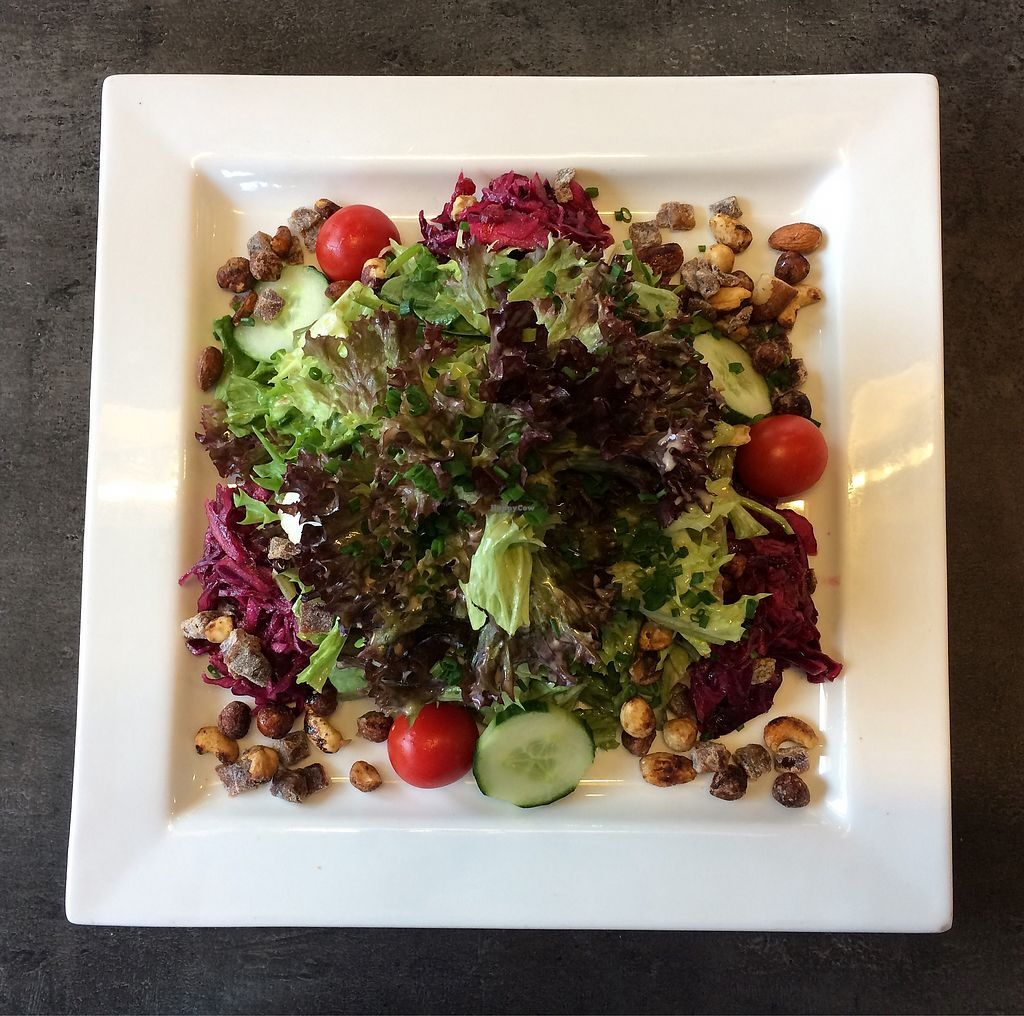 "Photo of Cafe Grau  by <a href=""/members/profile/Carissima"">Carissima</a> <br/>Salad of mixed leaf lettuces, pickled red cabbage, dates, and caramelized nuts <br/> October 26, 2017  - <a href='/contact/abuse/image/102866/319004'>Report</a>"
