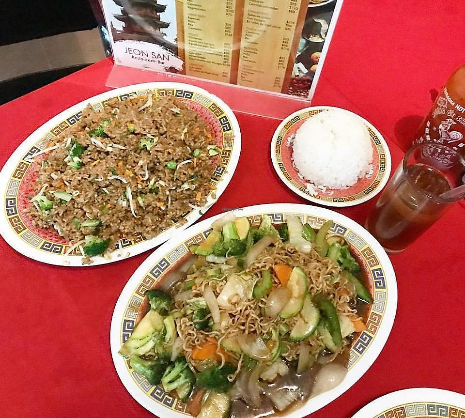 """Photo of Jeon San  by <a href=""""/members/profile/YanethGris"""">YanethGris</a> <br/>Chow mien, fried rice and white rice <br/> November 1, 2017  - <a href='/contact/abuse/image/102890/320661'>Report</a>"""