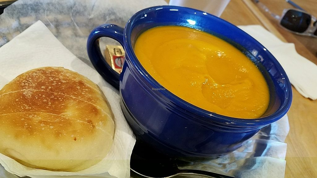 """Photo of River Rock Roasting Company  by <a href=""""/members/profile/lv2compute"""">lv2compute</a> <br/>Vegan Sweet Potato & Jalapeno soup <br/> December 17, 2017  - <a href='/contact/abuse/image/102897/336587'>Report</a>"""