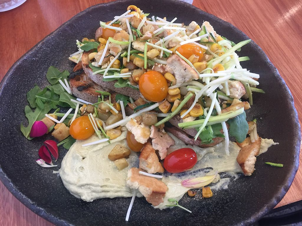 """Photo of FacePlant  by <a href=""""/members/profile/Tiggy"""">Tiggy</a> <br/>Big breakfast - Tasty with smoked tofu and hummus  <br/> March 14, 2018  - <a href='/contact/abuse/image/102898/370374'>Report</a>"""