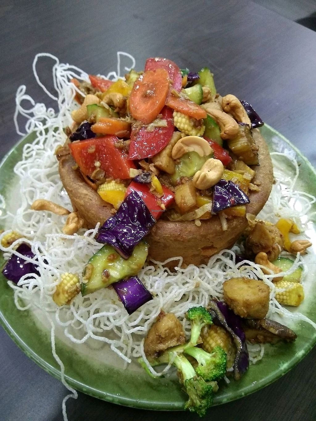 "Photo of Yi Xin Vegan Restaurant  by <a href=""/members/profile/AdelOng"">AdelOng</a> <br/>Deep Fried Yam Ring @$15.00 <br/> April 10, 2018  - <a href='/contact/abuse/image/10289/383126'>Report</a>"