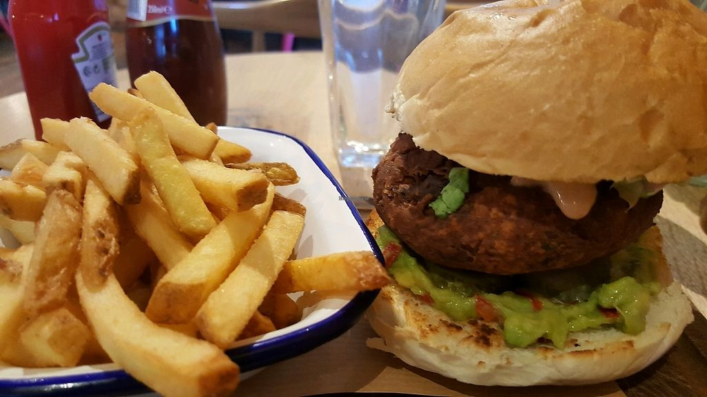 """Photo of The Viking Pub and Bakehouse  by <a href=""""/members/profile/Clare"""">Clare</a> <br/>Vegan Viking burger <br/> February 20, 2018  - <a href='/contact/abuse/image/102920/361892'>Report</a>"""