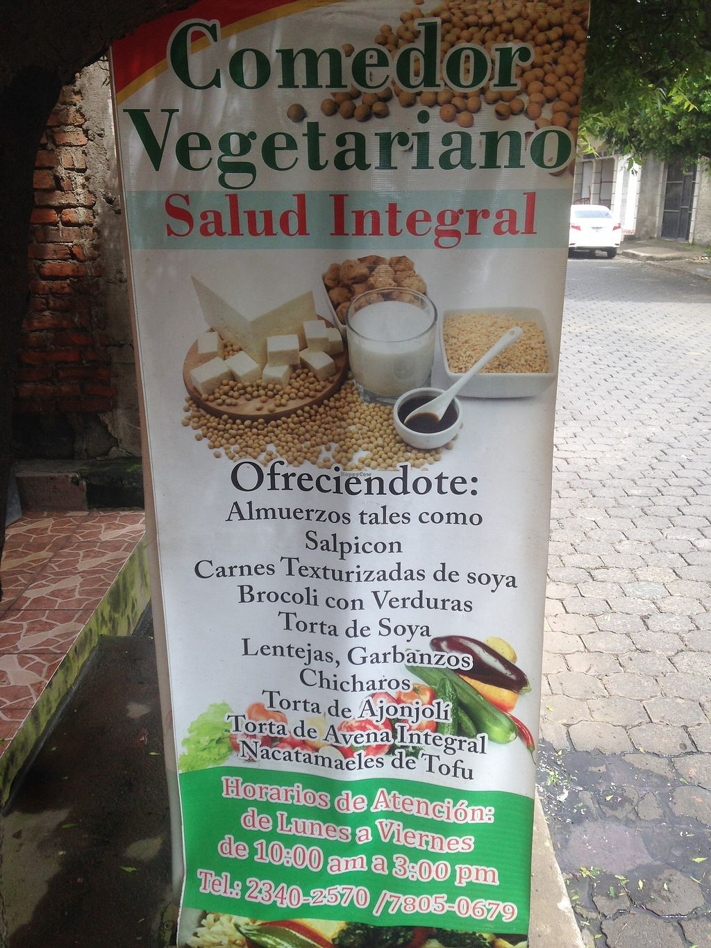 """Photo of Comedor Vegetariano Salud Integral  by <a href=""""/members/profile/Stubler"""">Stubler</a> <br/>Restaurant street listing <br/> October 15, 2017  - <a href='/contact/abuse/image/102923/315515'>Report</a>"""