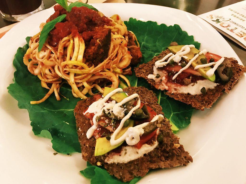"Photo of Detoks Cafe   by <a href=""/members/profile/veganoteacher"">veganoteacher</a> <br/>Raw Spaghetti  <br/> November 27, 2017  - <a href='/contact/abuse/image/102938/329822'>Report</a>"