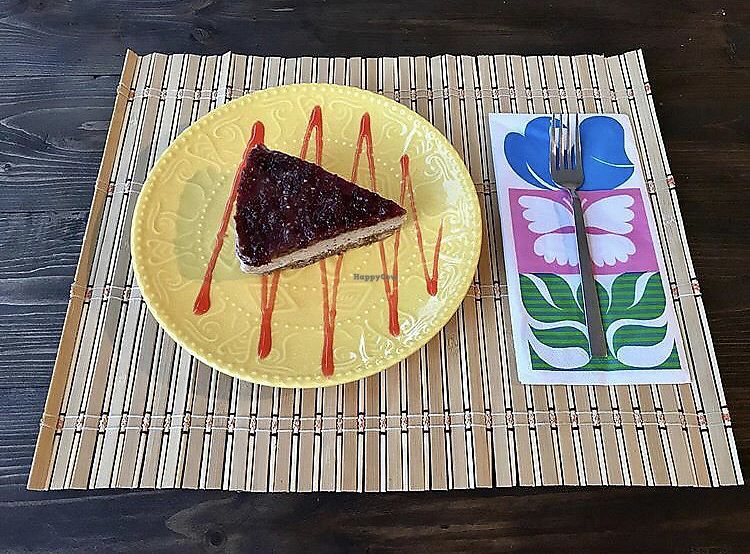 """Photo of Capella Cafe  by <a href=""""/members/profile/veganoteacher"""">veganoteacher</a> <br/>Raw Cheesecake  <br/> October 15, 2017  - <a href='/contact/abuse/image/102939/315455'>Report</a>"""