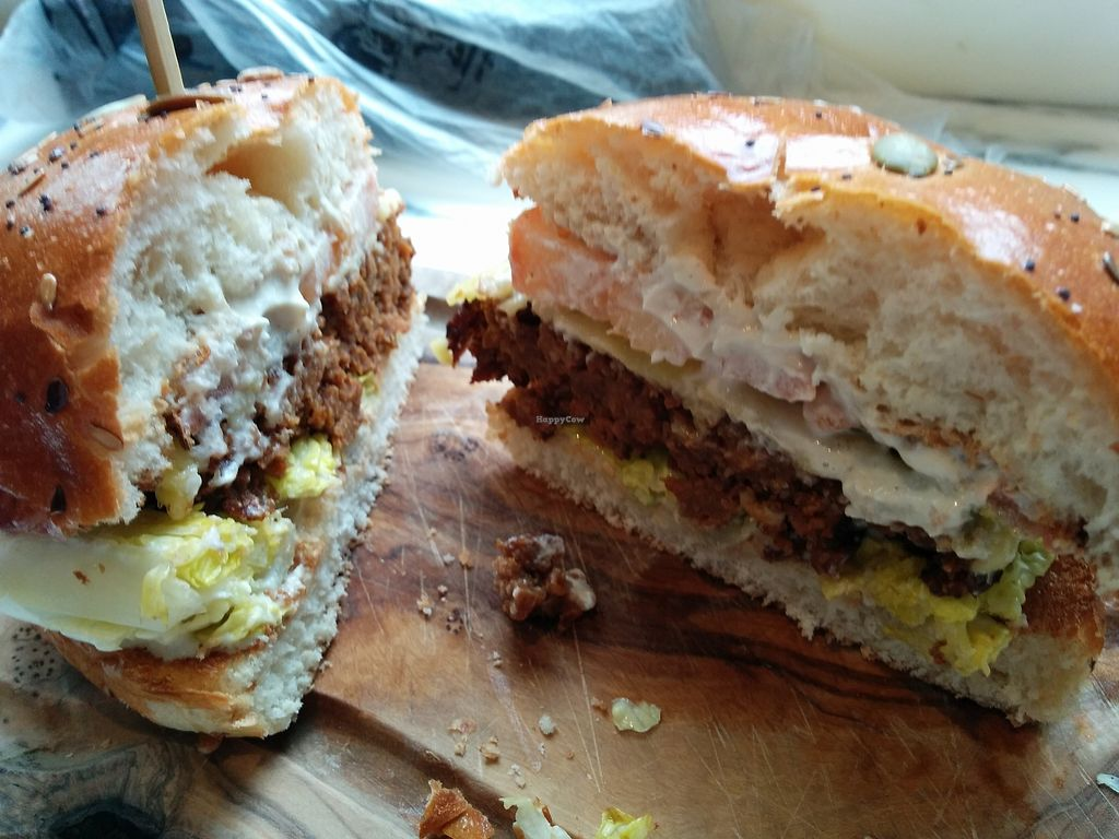 """Photo of Wulf & Lamb  by <a href=""""/members/profile/CLRtraveller"""">CLRtraveller</a> <br/>Seitan Burger <br/> March 19, 2018  - <a href='/contact/abuse/image/102949/372827'>Report</a>"""