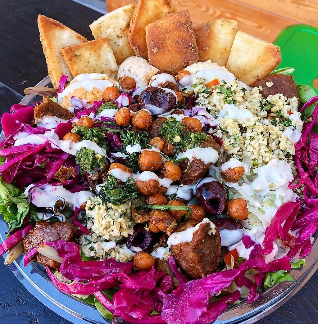 """Photo of The Hummus Republic  by <a href=""""/members/profile/JordynWeekly"""">JordynWeekly</a> <br/>Vegan beef bowl (create your own) <br/> February 21, 2018  - <a href='/contact/abuse/image/102950/362102'>Report</a>"""