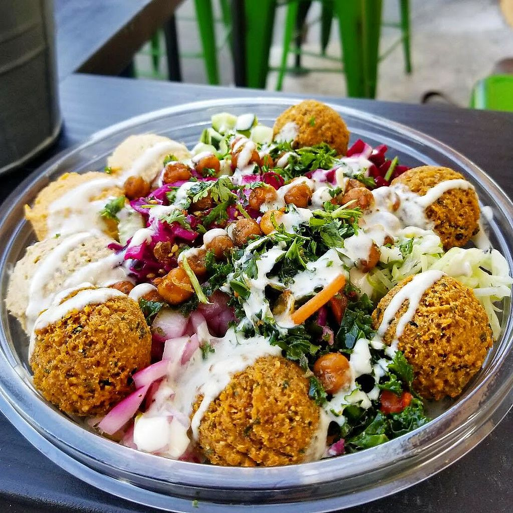 """Photo of The Hummus Republic  by <a href=""""/members/profile/JordynWeekly"""">JordynWeekly</a> <br/>Vegan flafel bowl (create your own) <br/> February 21, 2018  - <a href='/contact/abuse/image/102950/362103'>Report</a>"""