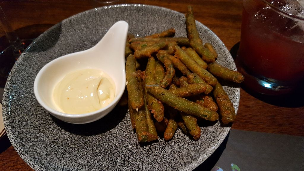 """Photo of Busaba  by <a href=""""/members/profile/Rikki%20Townson"""">Rikki Townson</a> <br/>Green bean fries <br/> October 29, 2017  - <a href='/contact/abuse/image/102956/319775'>Report</a>"""